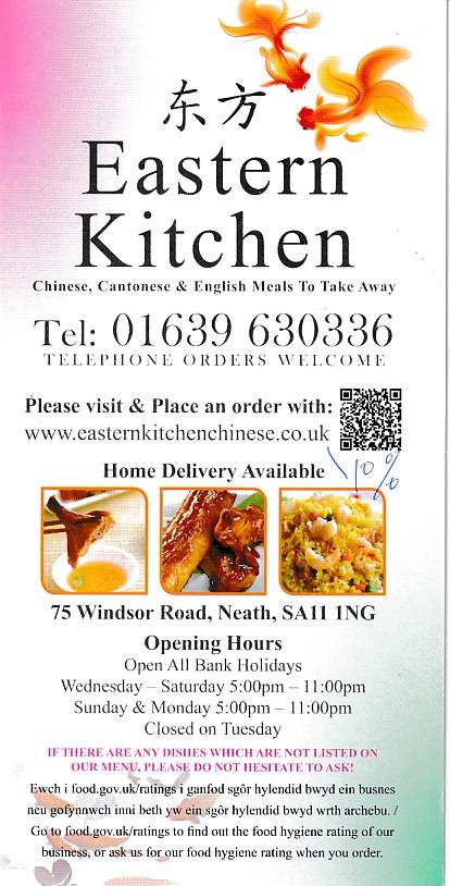 Eastern Kitchen Takeaway Menu